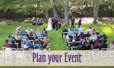 plan your event - wedding by the big sur river