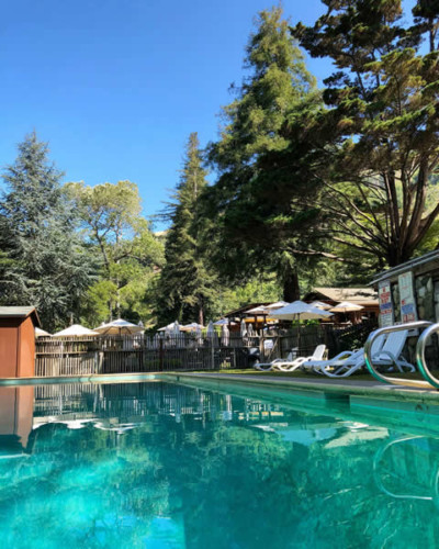 big sur summer vacation swimming pool